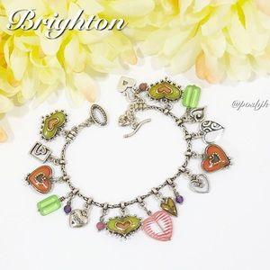 Brighton Charm Bracelet Enamel Silver Heart Hope Portobello